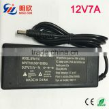 12V7A Desktop Power Adapter With AC Cord UL FCC CE SAA C-Tick PSE KC CCC Approval