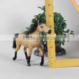 handcraft plush animal anal plastic race horses toys