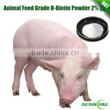 High Quality Animal Feed Adiitive D-Biotin Vitamin H Powder 2% Immune & Anti-Fatigue