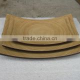 Simple square design bamboo dish-plate made in Vietnam