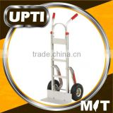 Taiwan Made High Quality Wide Top Plate Aluminum Hand Truck Fixed Hand Truck with Pneumatic Wheels
