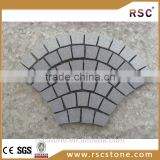 Bush hammered granite paving stone with cheap price;paving stone flame granite;kerb and paving granite