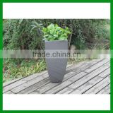 FO-288 Tall Square Decorative Fiberglass Flower Planter Pots