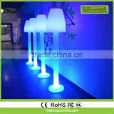 Rechargeable PE plastic water-drop floor lamp with LED rgb lamp