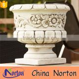 antique stone carving flower pot for cemetery NTMF- FP210X