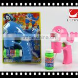 kids plastic funny dolphin shape bubble gun with music and 1 bottle bubble water