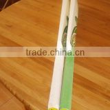 Hot sale custom logo cheap price wood tennis ball cricket bat in white green grips for sale made in china