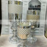 unique silvery with pearl ceramic item decorative mosaic vase