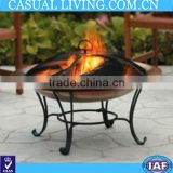 steel patio wood firepit