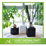 Home decoration hot sales 100ML black glass bottle with rattan sticks aroma reed diffuser