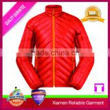 Red colour leather motor bike jacket for men