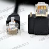 RJ45 Right Angle with  Recessed Thumbscrews Horizontal Data Cables Image