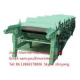 Denim waste recycling machine with four rollers