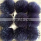 YR471 Fox Fur Pom Poms, fox pom poms top quality OEM