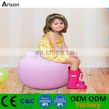Factory flocked PVC inflatable booster cushion inflatable seat for kids