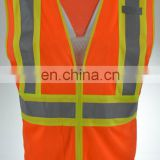 Workwear Silver TC Reflectice Tape Mesh Safety Vest