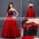 2012 new arrival free shipping beaded sleeveless long dress for prom