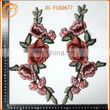 Hot Sale Embroidery Flower Pattern Patches Collar