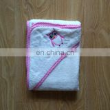 OEM Service 100% Cotton Terry Infant Hooded Towel Cartoon Character Bath Towels Blanket Baby Bath Towel