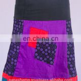 Bohemian Purple Haze Cotton Pathwork Mini Skirt HHCS 109 F