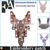 Customized ethnic embroidery collar boho chic embroidery collar beaded lace collar