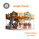 Zhongshan amusement park equipment, Jungle horse, Luxury Carousel, Merry go round, 26 seat for kids or adult, kiddie