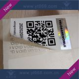 Silver bar-code/QR code security scratch off label sticker with custom design