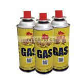 Hebei camping gas butane canister refill 220g and tinplate BBQ butane gas cartridge