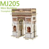 DIY kit construction 3D wooden building model
