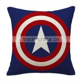 Factory selling New Children Big hero style linen and cotton throw Pillow Case Cover