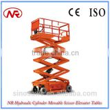 NR Hydraulic Cylinder Movable Scissor Elevator Tables