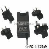 36w 15v 2.4a interchangeable plug power adapter switching power adapter with CE/FCC/UL/CUL/ROHS