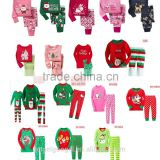 Santa's Little Helper Pink reindeer kids christmas pajamas sleepwear for holidayMY-PCh2