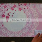 plastic placemats & coaster set, cheap promotional custom PP placemats, EVA foam table mat