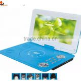 larger screen portable evd dvd player with game joystick blue colour portable evd player