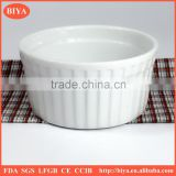 cup cake mold ceramic bowl with stripe design,flat bottom bowl ceramic soup bowl Stripe cup