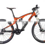ICAN full suspension mountain bike 27.5 carbon with disc brake for high quality                                                                         Quality Choice