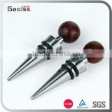 Wood head decoration Wine bottle stopper cap wine metal bottle stopper                                                                                                         Supplier's Choice