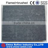 zhangpu black basalt flamed+brushed tile&slab
