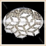 Guangdong Fancy clear K9 crystal led ceiling flush mounted lighting Modern crystal ceiling lamp for decoration