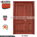 china new modern house wood double door design 100% Mahogany wood door double entry door