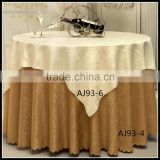 factory direct sell square cream overylay and round coffee undelay table cloths for tables