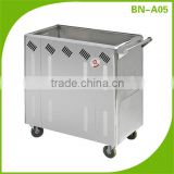 BN-A05 Kitchen gas powered snack food warmer trolley