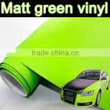 bubble free matt green vinyl for car body wrap, apple green car sticker with air channels