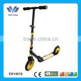 2014 new design hot sale big wheels foot pedal adult scooter