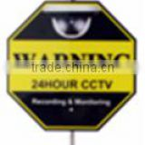 1m pole included Arcylic yard CCTV warning sign (SMT-Yard sign)