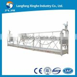 Steel 6m 630kg construction hoist suspended platform ZLP630 / electric scaffolding winch / gondola