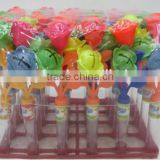 Rattles flower whistle toy with candy