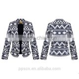 New design long sleeve warm thick woven winter jacket casual women ladies blazer                                                                         Quality Choice