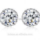 EZ-19 Online Sale Golden Zircon Set H65 Brass Based Star Zircon Earring